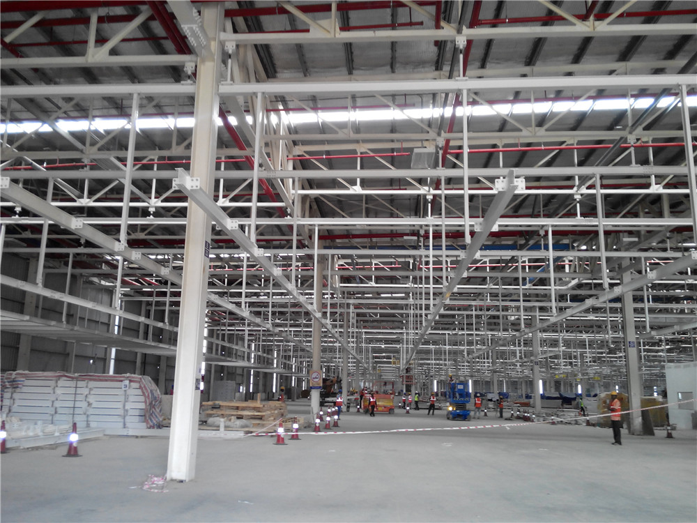 2400 tons of India Ford automobile assembly plant and body steel structure project